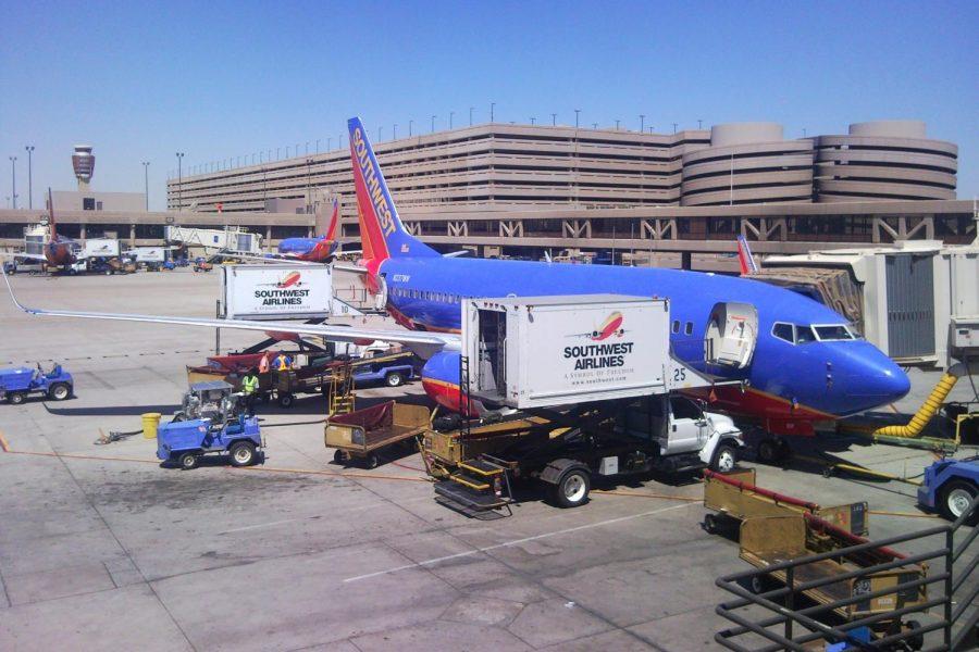 Southwest crews work at Sky Harbor Airport