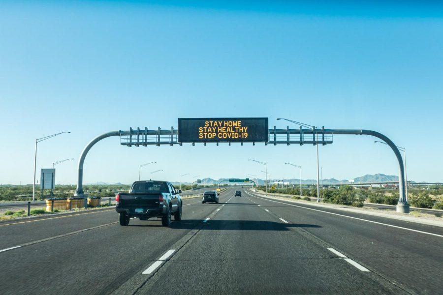 Arizona Freeway Sign on 202 North