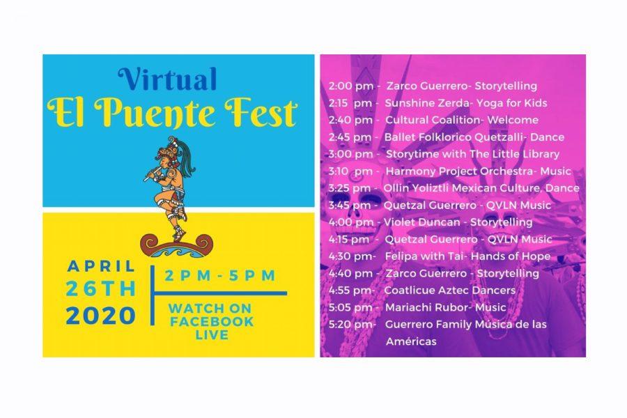 Virtual El Puente Fest Sunday, April 26, 2020, 2-5 p.m.