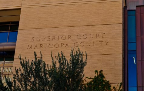 The Superior Court courthouse of Maricopa County at 201 West Jefferson Street in downtown Phoenix, Arizona, part of the Judicial Branch of Arizona.