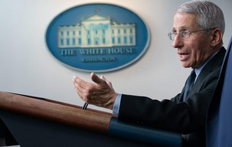 Dr. Anthony S. Fauci, director of the National Institute of Allergy and Infectious Diseases and a member of the White House Coronavirus Taskforce, addresses his remarks at a coronavirus update briefing Monday, March 16, 2020