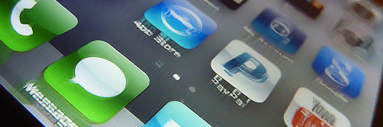 apps on iphone screen.