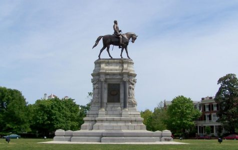 The Robert E. Lee monument in Richmond, Va. before being damaged by protesters last weekend