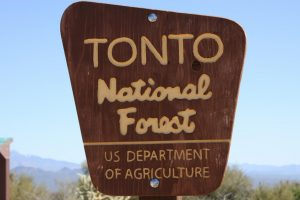 The Tonto National Forest is among the areas closed to visitors because of extreme fire danger.