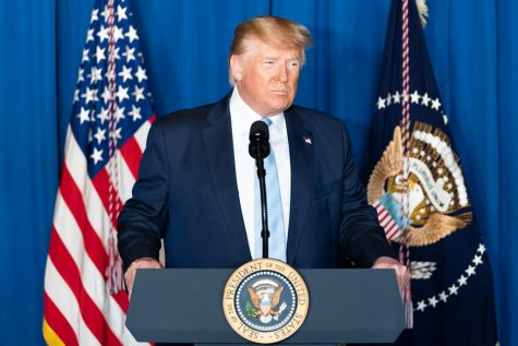 President Donald J. Trump delivers remarks during a press conference Friday, Jan. 3, 2020,
