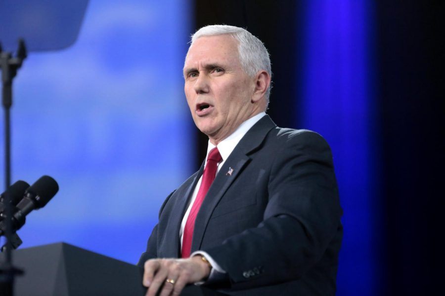 Vice President of the United States Mike Pence speaking at the 2017 Conservative Political Action Conference (CPAC) in National Harbor, Maryland.