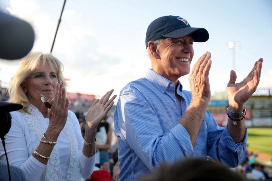 Former+Second+Lady+of+the+United+States+Jill+Biden+and+former+Vice+President+of+the+United+States+Joe+Biden+at+a+past+Fourth+of+July+Iowa+Cubs+game+in+Des+Moines.