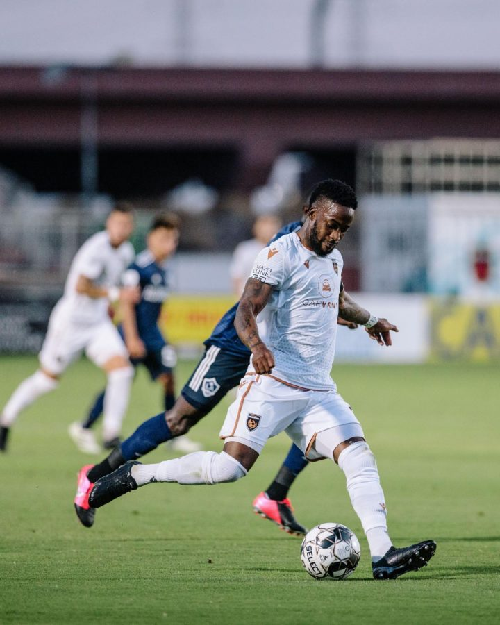 Junior Flemmings scored a hat-trick against New Mexico United