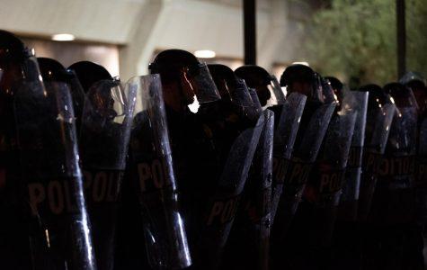 Phoenix Police officers in riot gear