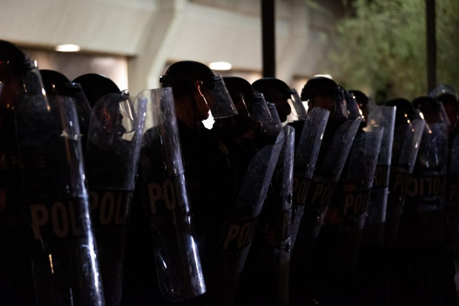 Phoenix Police officers in riot gear
