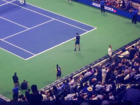 Roger Federer (shown here in a 2019 U.S. Open match) and fans will both be missing from this year