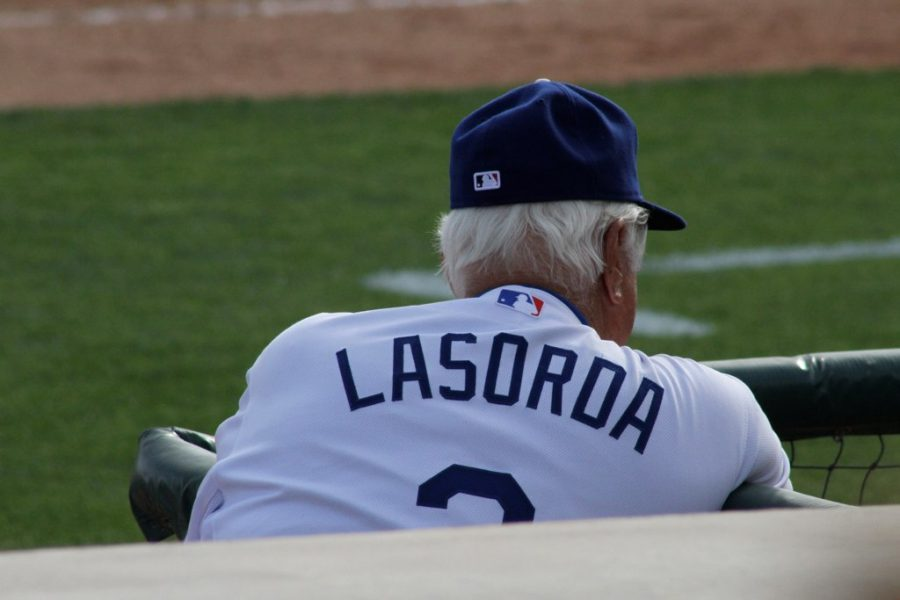 Tommy Lasorda was coaching in the Dodger's organization when Hank Aaron broke Babe Ruth's home run record