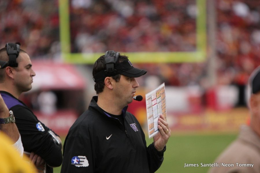 Steve Sarkisian during his tenure at University of Washington