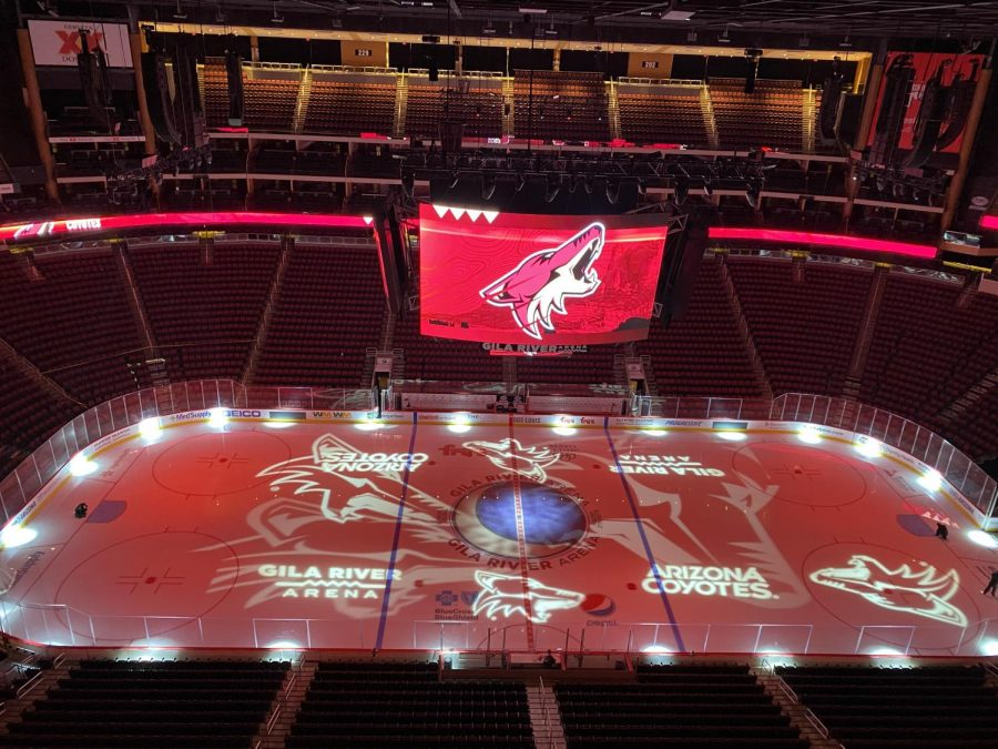 Coyotes+pregame+ice+display