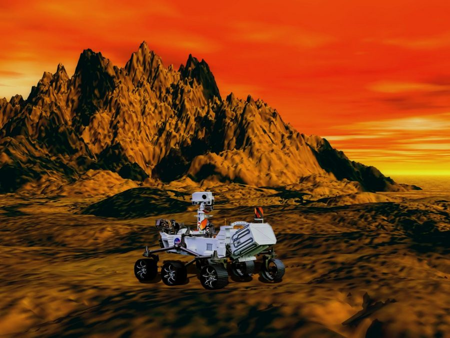 A 3-D image of the Perseverance rover