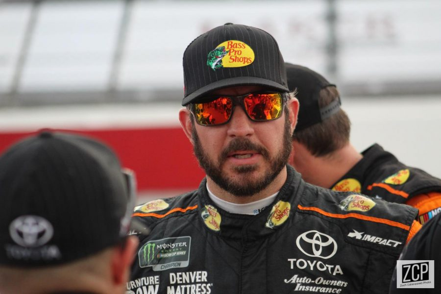 Martin+Truex+Jr.+collected+his+second+win+of+the+season+at+the+Blu+Emu+Maximum+Pain+Relief+500