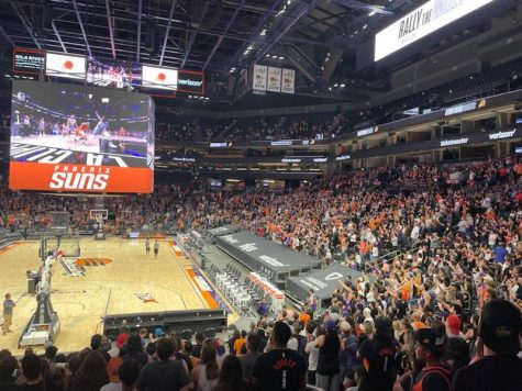 The crowd was rocking at the Road Game Rally at Phoenix Suns Arena Saturday night