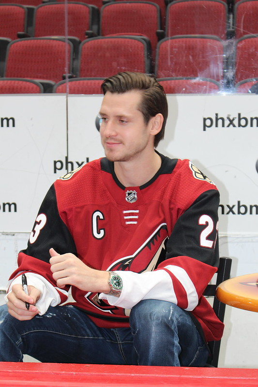 Oliver Ekman-Larsson pictured at Coyotes Fanfest in 2019.