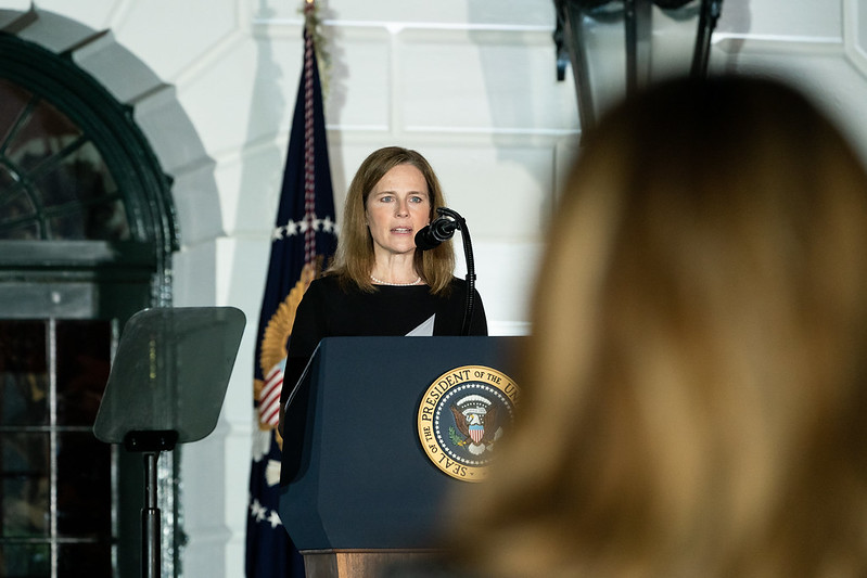 Amy Coney Barrett was the Supreme Court justice who dismissed the students' claim.